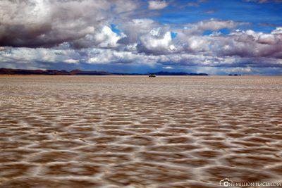 Dried-up part of the salt desert