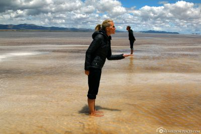 Perspective images in the salt lake