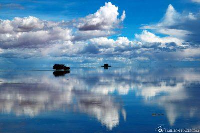 The salt desert in Bolivia