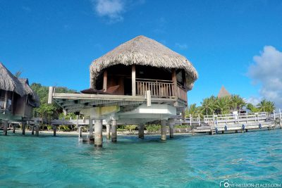 Our bungalow from the water