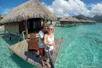Selfie at our bungalow