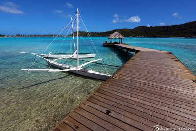 The jetty of the boats