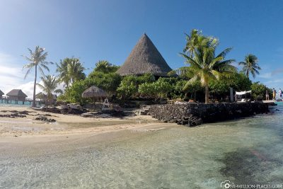 View of Otemanu Beach and the reception
