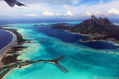 Approach to the dream island of Bora-Bora