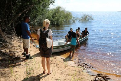 Boat fart on the Rio Negro