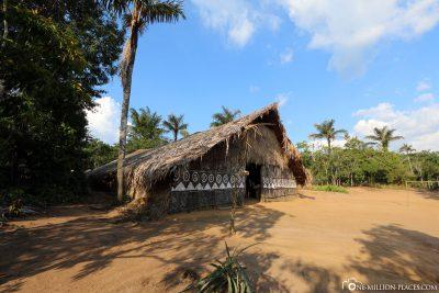 Ein Dorf der Amazonas Urbevölkerung