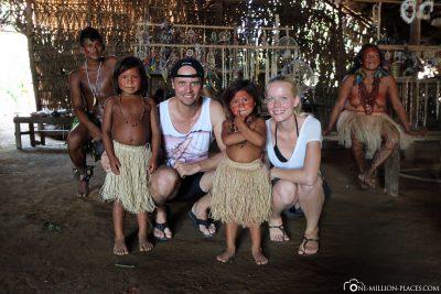 Ein Foto mit den Kindern des Dorfes