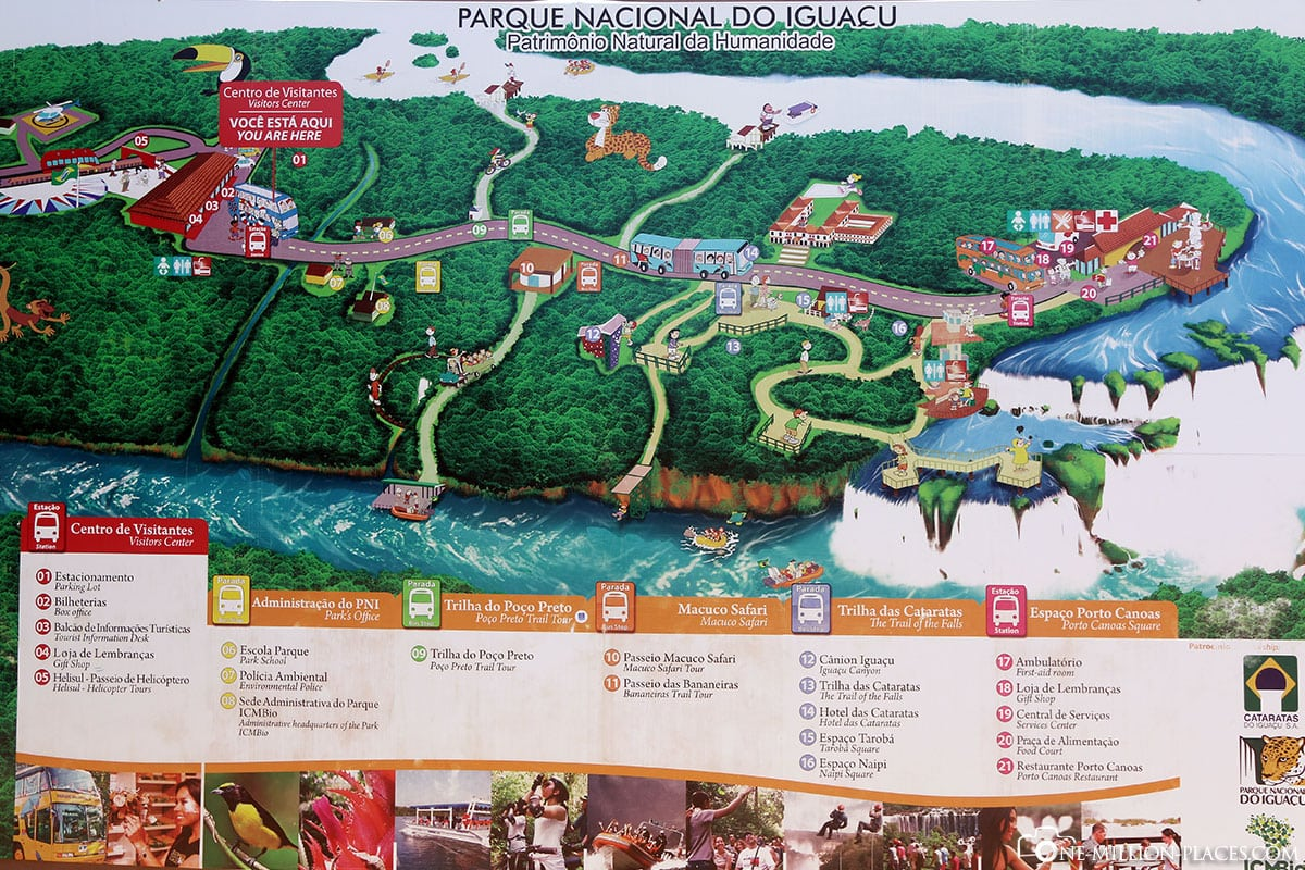 Map, Plan, Iguazu Waterfalls, Iguau National Park, Brazil, On Your Own, Travelreport