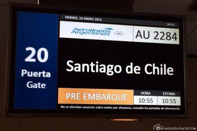 Flight to Santiago de Chile