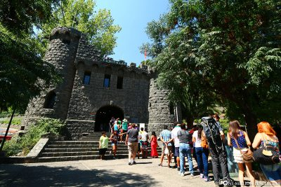The entrance to the funicular