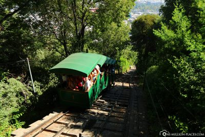 The funicular of Cerro San Cristobal