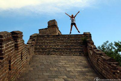 Der höchste Punkt an diesem Teil der Mauer