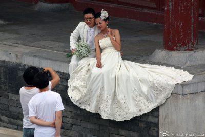 Hochzeitspaare am Himmelstempel