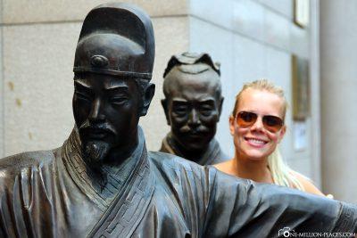 Statue an der Qianmen Straße