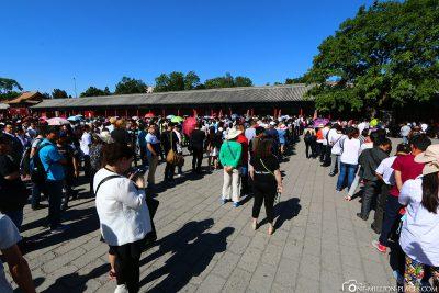The long queues at the tills