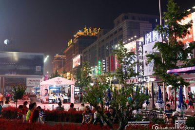 Die Shoppingstraße Wangfujing