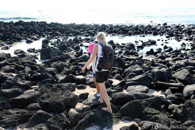 The path along the coast of San Cristobal