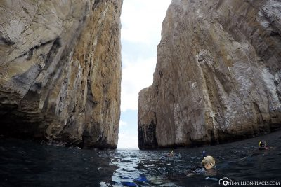 Snorkeling at Kicker Rock