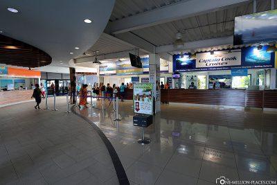 The passenger terminal in Dernau