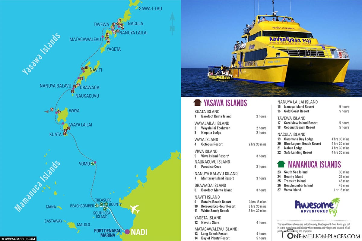 Map, Route, Fiji, Yasawa Islands, Awesome Adventures Fiji, On Your Own, Travelreport