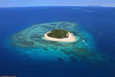 Luftaufnahme von Beachcomber Island