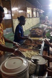 Das Buffet am Abend