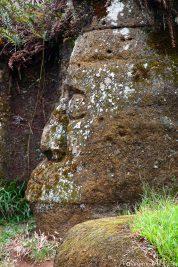 Figuren aus Stein auf Floreana