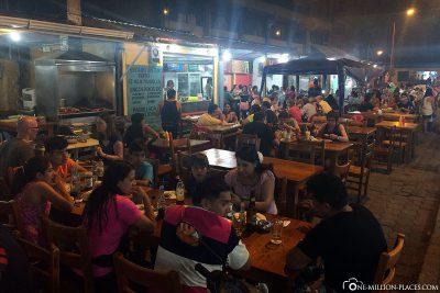 The Food Street in Puerto Ayora