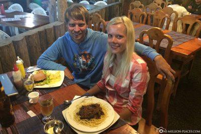 Unser kleines Restaurant in Puerto Ayora