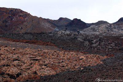 Cooled lava flows