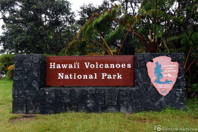 The entrance to Hawaii Volcanoes National Park