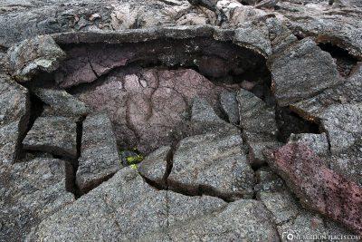 Lave des Mauna Ulu Vulkans