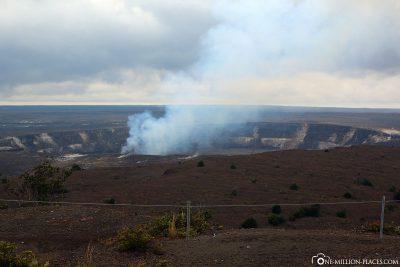 View of Halema'uma'u Crater