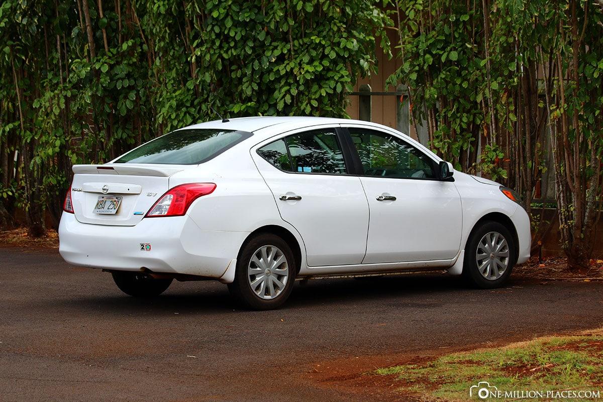 Car Rental, Kauai, Hawaii, USA, Travelreport, On Your Own