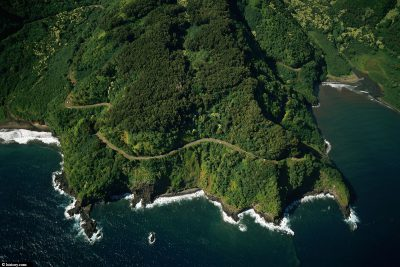 The Road to Hana from above