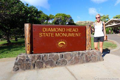 Der Eingang zum Diamond Head State Monument