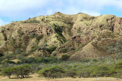 Der Krater von Innen
