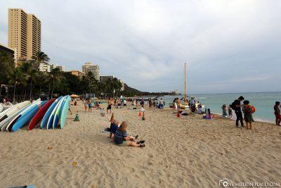 Der Waikiki Beach