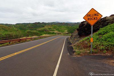 Die Küstenstraße 340 in Maui