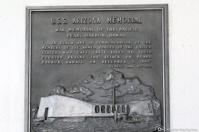 Commemorative plaque USS Arizona
