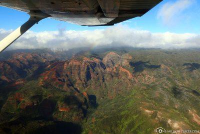 Round trip over Waimea Canyon