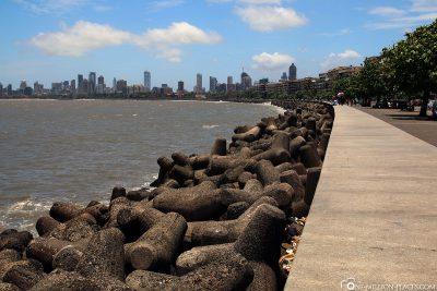 Der Marine Drive in Mumbai
