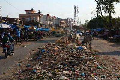 Überall Müll auf den Straßen