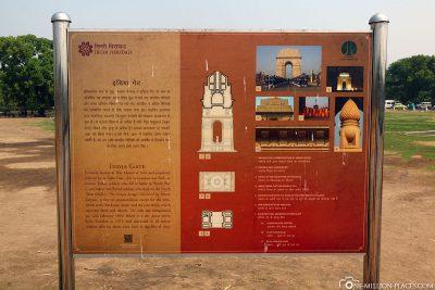 The India Gate in Delhi
