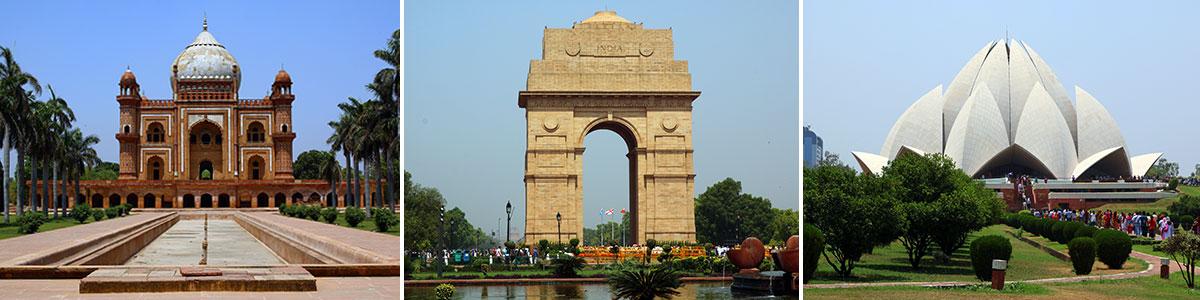Neu Delhi Tour Sehenswürdigkeiten Headerbild