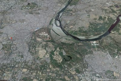 Ein Karte von Agra