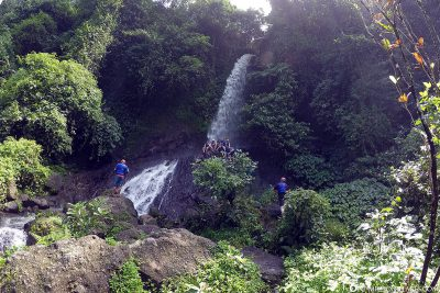 Stopover at the waterfall