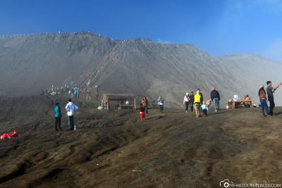 Just before the crater