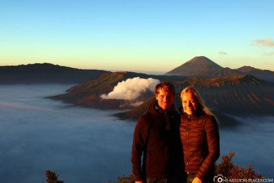 Der Sonnenaufgang am Mount Bromo