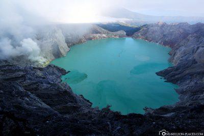 Blick auf den Kratersee